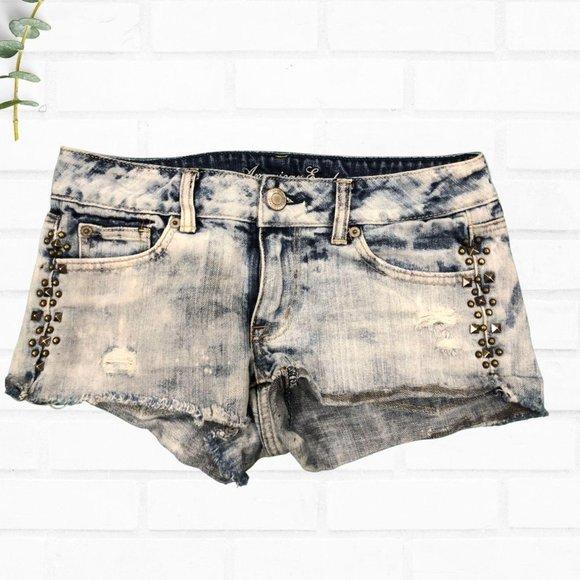 American Eagle Studded Cut Off Shorts